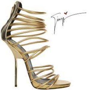 Giuseppe Zanotti Women's Gold Strappy Sandal